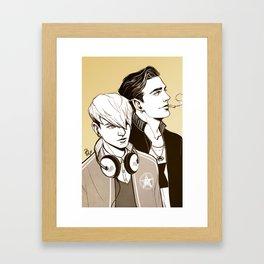the poisoned youth Framed Art Print
