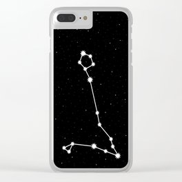 Pisces Astrology Star Sign Clear iPhone Case