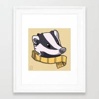 hufflepuff Framed Art Prints featuring Hufflepuff by Clair C