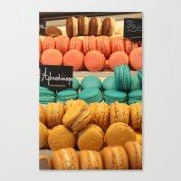macarons Canvas Prints featuring Macarons by Cristina Cavallari