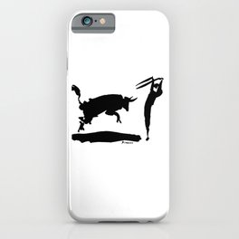 Pablo Picasso Bullfight III 1960 Artwork Shirt, Reproduction iPhone Case
