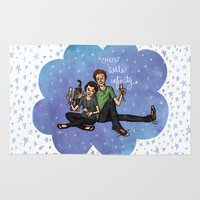 the fault in our stars Area & Throw Rugs featuring The Fault in Our Stars by Sarah Hopkins