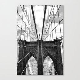 Brooklyn Bridge Old School Canvas Print