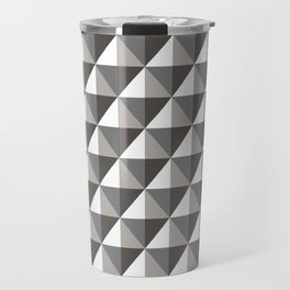Black & Gray 3D Geometric Diamonds Travel Mug