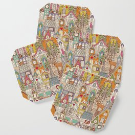 vintage gingerbread town Coaster