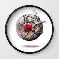 globe Wall Clocks featuring globe by Paradox