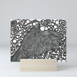 Grasping for Pearls Mini Art Print