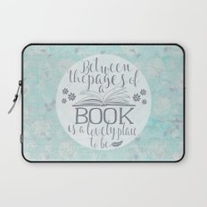 Between the Pages of a Book - Vintage Blue Laptop Sleeve