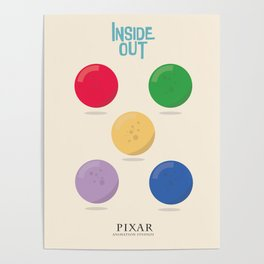 Inside Out - Minimal Movie Poster, animated movie, Poster