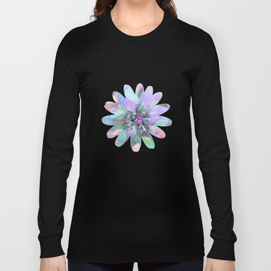 Fractal in Flower Long Sleeve T-shirt