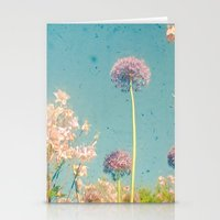 garden Stationery Cards featuring Garden by Cassia Beck