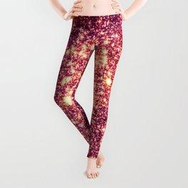 Galaxy. Stars : Rose Gold Leggings