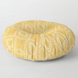 Diamond Dots in Yellow Floor Pillow