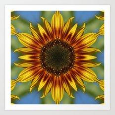 Sunflower Kaleidoscope Art Print