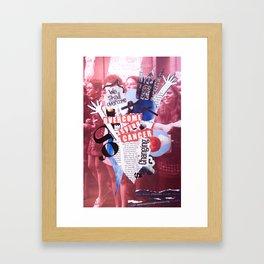 overcome. Framed Art Print