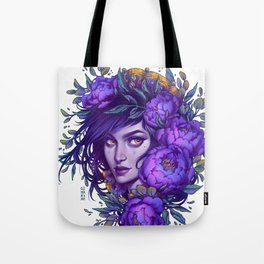 Purple Witch Tote Bag