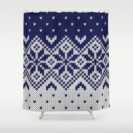 Winter knitted pattern 9 Shower Curtain