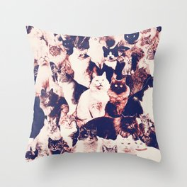 Cats. Forever. Throw Pillow