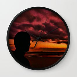 Watching the Sun go down Wall Clock