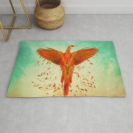 Phoenix Rising -Mixed media Rug