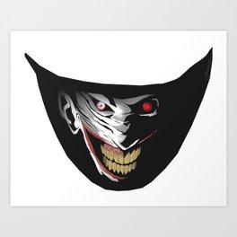 Joker's wicked SMILE! Art Print