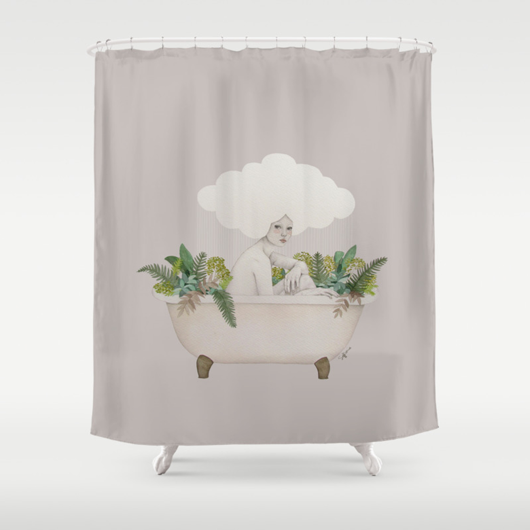 people shower curtains society6. Black Bedroom Furniture Sets. Home Design Ideas