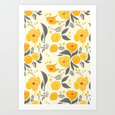 Marigold Mayhem Art Print