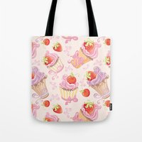 cupcakes Tote Bags featuring Cupcakes by Julscela
