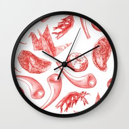 In Vitro Meat Pattern V Wall Clock