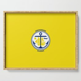 flag of Anchorage Serving Tray