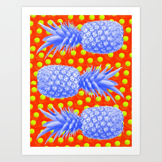 Pineapple Oyster Art Print