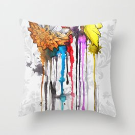 birth of a color Throw Pillow