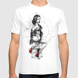 Love and Geometry. INK ART. Yury Fadeev T-shirt