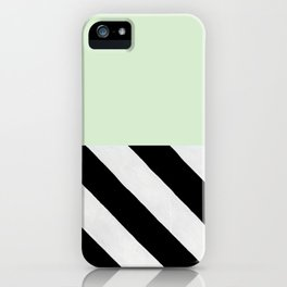 PARALLEL_LINES_GREEN_MINT iPhone Case