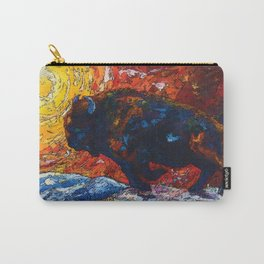 Wild the Storm - Bison Running Painting Carry-All Pouch