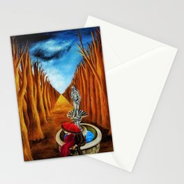 Couple amid the Twilight and the Idyll by Maria Izquierdo Stationery Cards