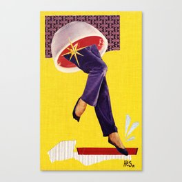 Composition on Yellow Canvas Print