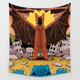 Kaiju Battle! Wall Tapestry