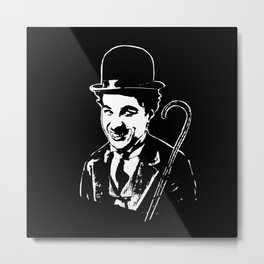 CHARLIE CHAPLIN THE COMIC GENIUS Metal Print