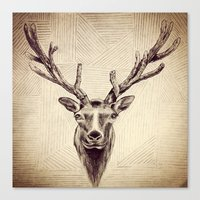 elk Canvas Prints featuring Elk  by Werk of Art