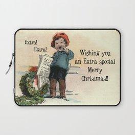 Extra! Extra!  Merry Christmas.... Laptop Sleeve