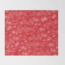 bloody pohutukawa flowers Throw Blanket