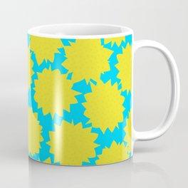 Pop Art Starburst // Yellow & Turquoise Coffee Mug