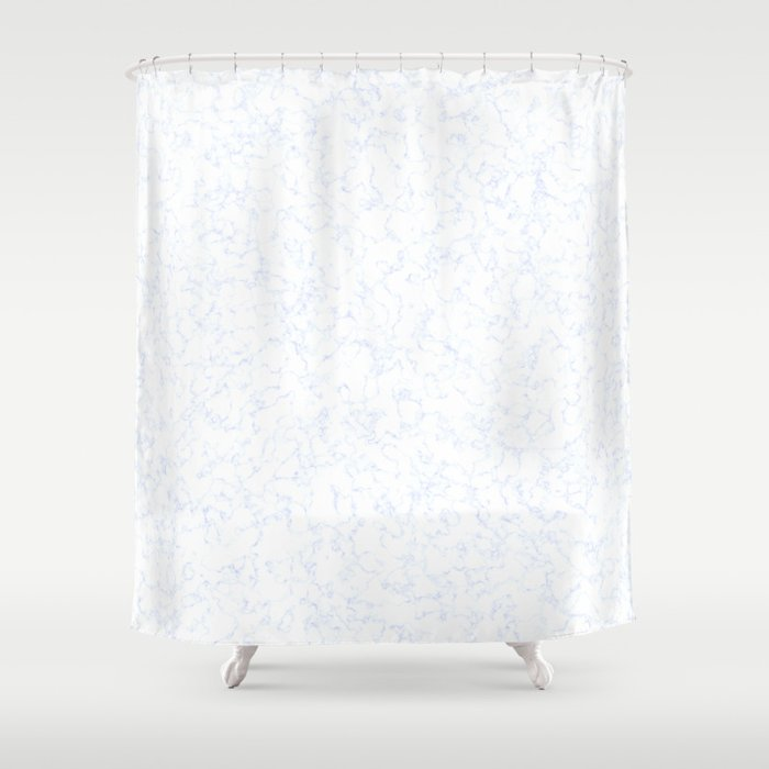 Blue White Marble Texture Shower Curtain