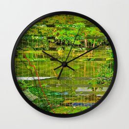 Landscape of My Heart (segment 3) Wall Clock