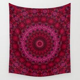 Pink crimson kaleidoscope Wall Tapestry