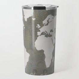 Not All Who Wander - World Map Travel Mug