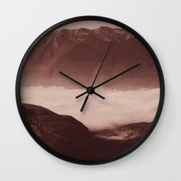 Morning in the mountains Wall Clock