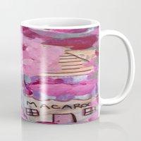 macaroons Mugs featuring Pink Macaroons  by drskippyart