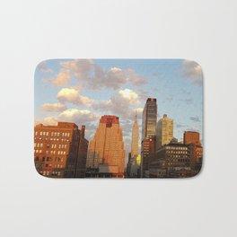 Manhattan Skyline and Sunset Bath Mat